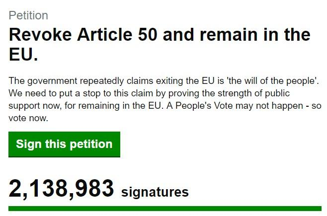 How the powers that be are SCAMMING UK AND EU population..Petition To Cancel Brexit Gets More Than 2 Million Signatures, Crashes Parliament Website 2019-03-21_17-02-59
