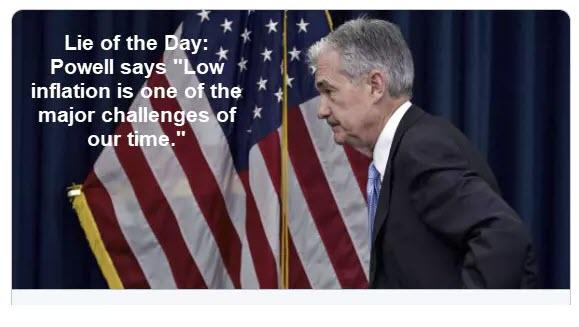 "Fed Lie Of The Day: ""Low Inflation Is One Of The Major Challenges Of Our Time"""