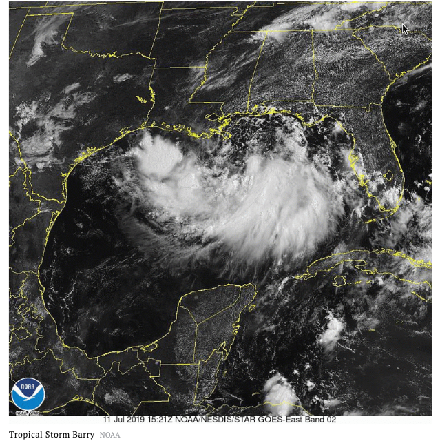 Tropical Storm Barry To Dump