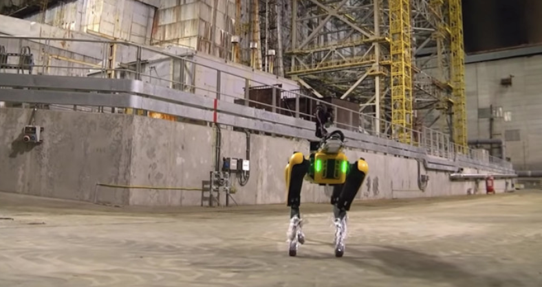"Boston Dynamics' Robot Dog Builds ""Radiation Map"" Of Chernobyl Reactor"