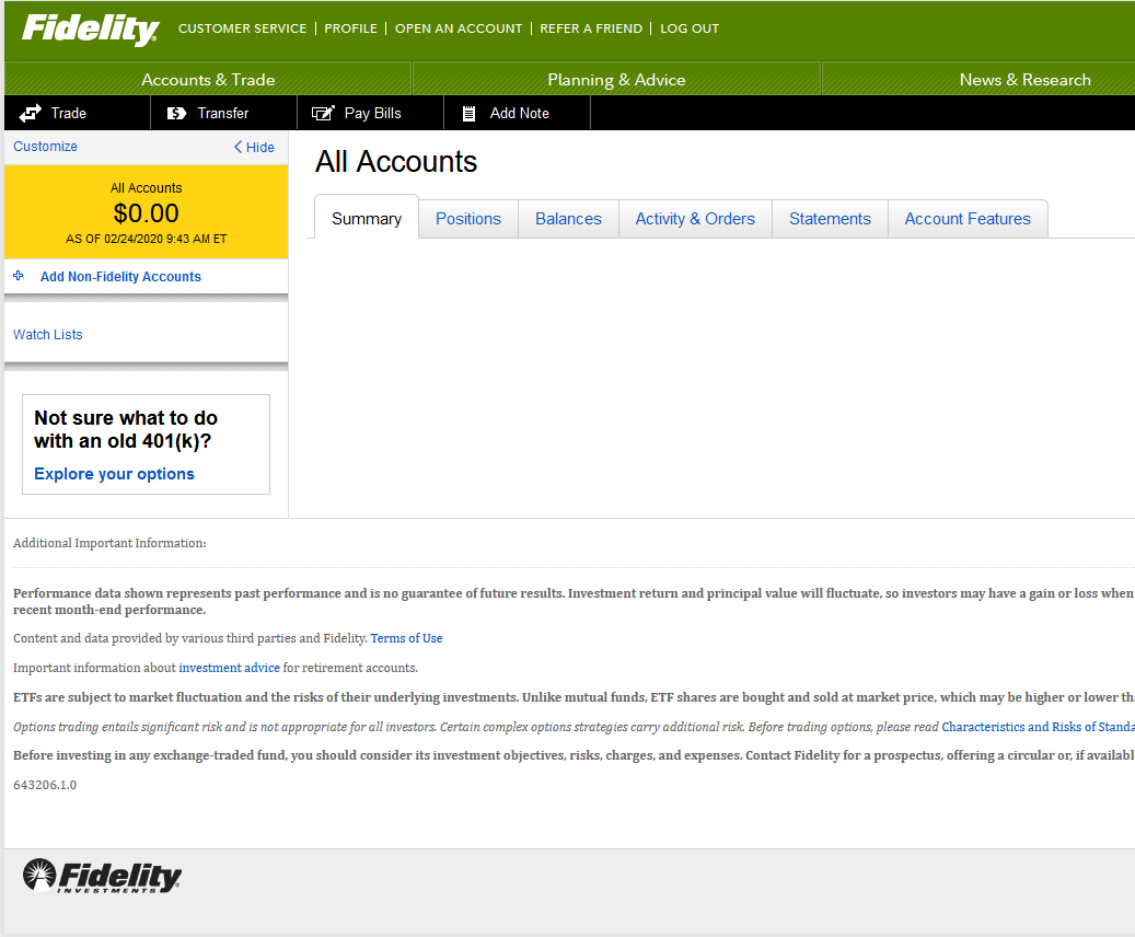 Fidelity Breaks For 2nd Time In A Week: Countless Accounts Showing Zero Balance
