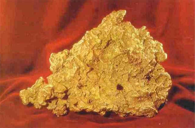 Great Triangle gold nugget, Moscow, Russia