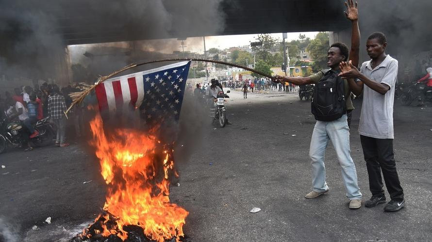 "Haitian Protesters Burn American Flag, Urge Russian Help Against US ""Puppet"" Regime"