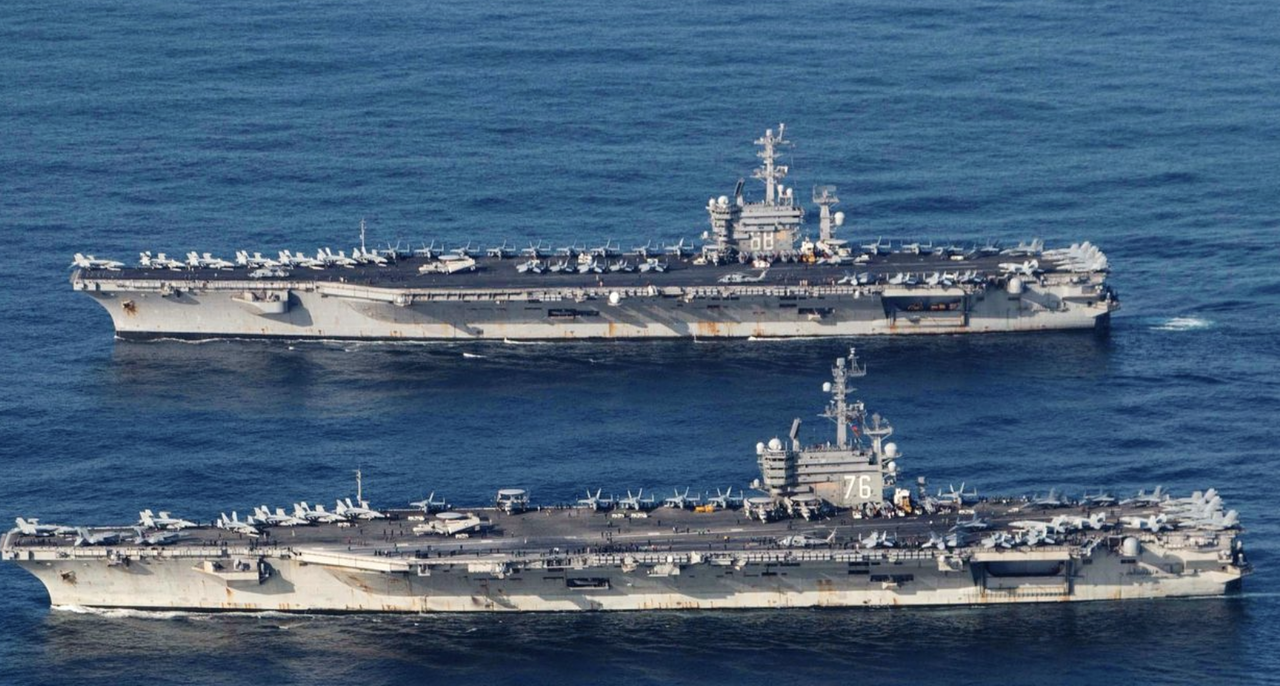 "2 Aircraft Carriers Lead 'Show Of Strenght' In South China Sea As Navarro Slams Beijing For ""Spreading The Virus"""