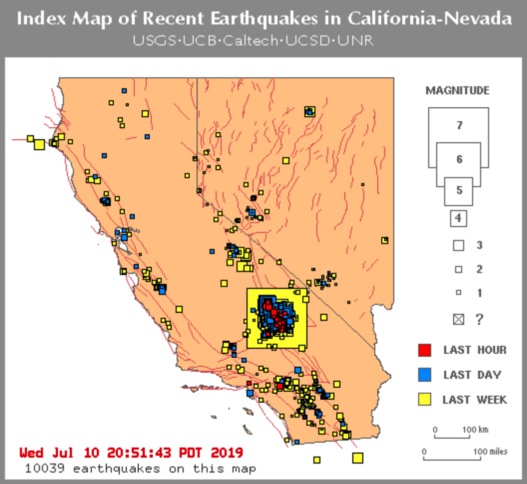 The Shaking Won't Stop: More Than 10,000 Quakes Strike California, Nevada In Last 7 Days - The Reports
