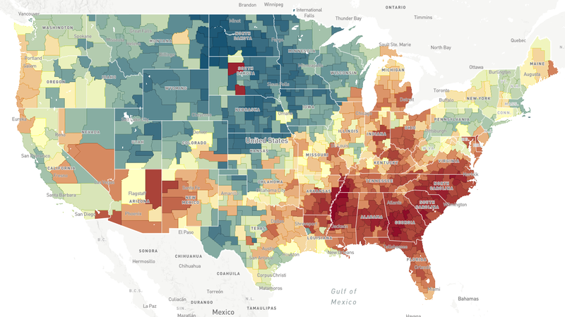 The American Dream Depends On Your Zip Code | Zero Hedge on usa map east coast, atlas east coast, road map east coast, area code map east coast, map of florida east coast, civil war maps east coast, zip code map west coast, zip code map east bay, zip code map california coast, elevation map east coast, zip code map east valley, weather east coast, state map east coast, time zone map east coast, map map east coast,