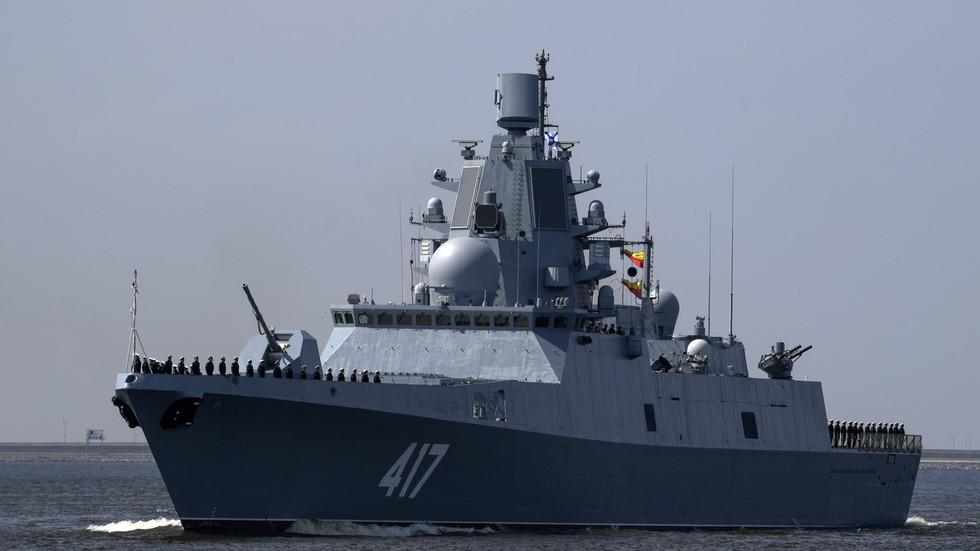 Russian Warship Packing 'Vomit Weapon' Sparks Fear After Sailing Down English Channel