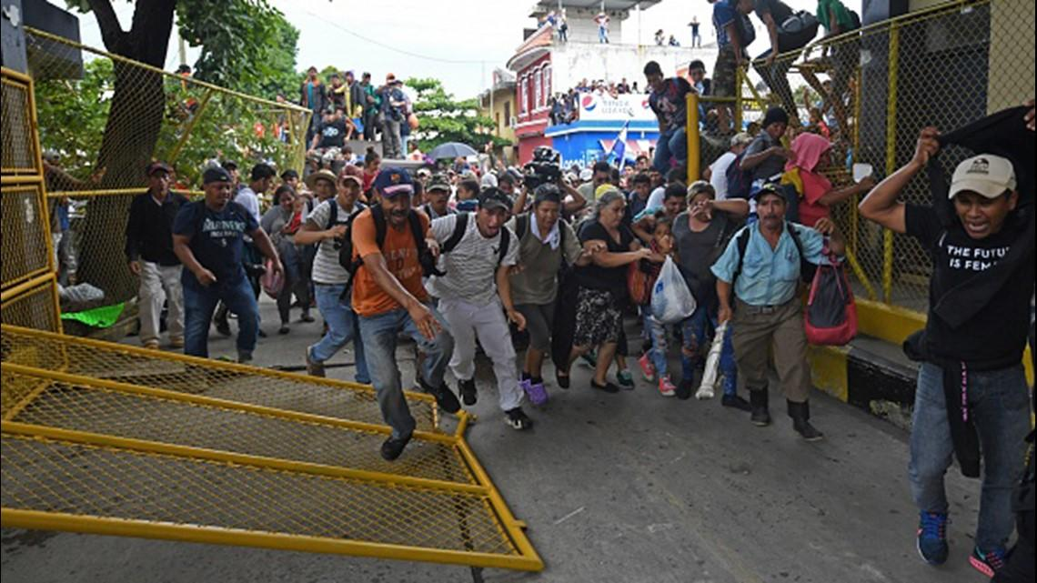 'Hostile And Aggressive' Migrants Break Through Border Into Southern Mexico, Join US-Bound Caravan