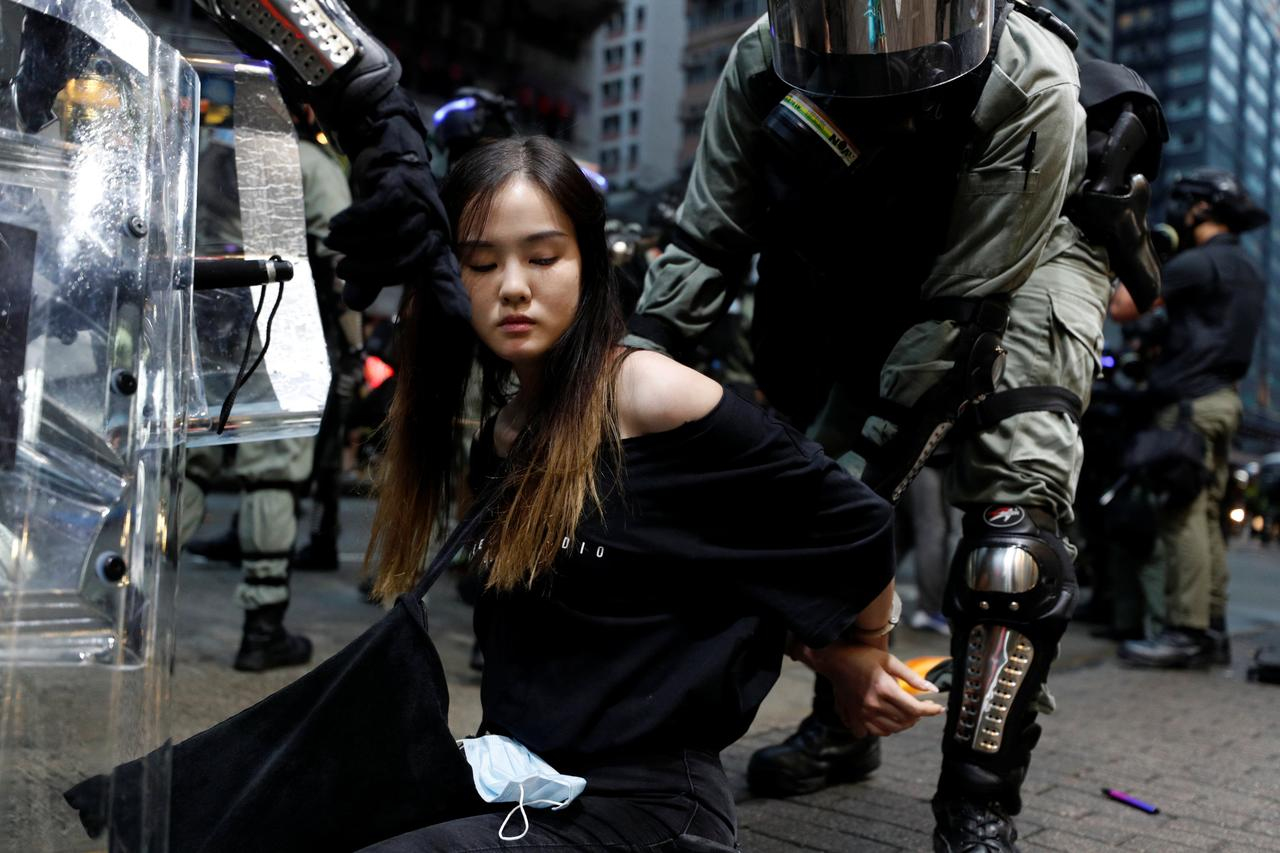 Arrest Of 750 Child Protesters In Hong Kong Sparks Outrage Hk%20girl%20arrest