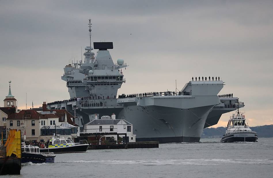 Royal Navy's Newest Carrier Suffers 'Embarrassing' Flood, Will Be Docked 6 Months