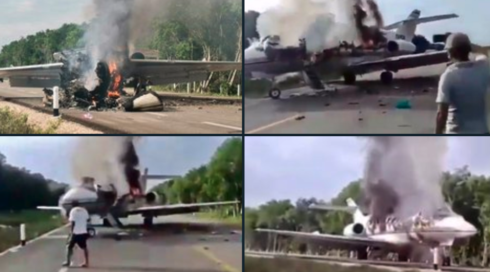 Narco Jet Allegedly Shot Down By Mexican Federal Police