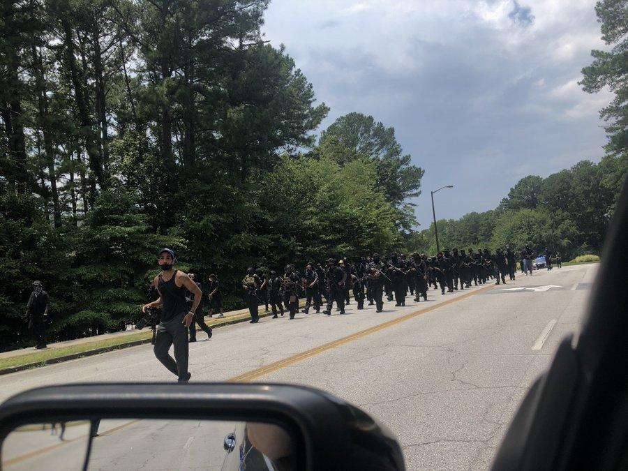 From 'Riots' To 'Armed Standoff': Black Armed Protesters Challenge White Militia At Confederate Monument