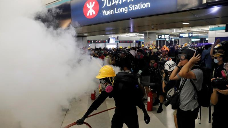"""They Let The Criminals Go"": China Furious At Chaotic Scenes From HK Metro Station Unrest"