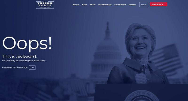 Trump website trolls HRC