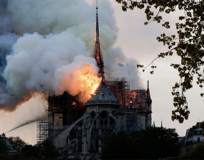 Stunning Images Show France's Historic Notre Dame Cathedral Engulfed In Flames [VIDEO]