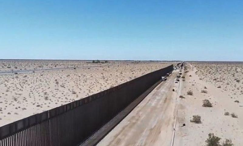 Border Patrol Unveils 60 Miles Of New US-Mexico Border Wall In Drone Footage