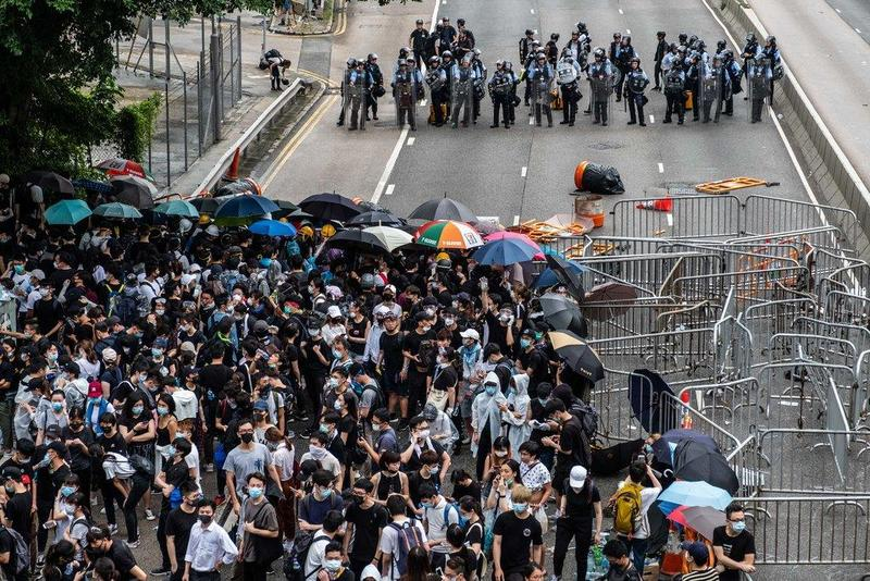 """We Are Extremely Angry"": Thousands Of Protesters Block Hong Kong Roads In Protest Against China Extradition Bill"