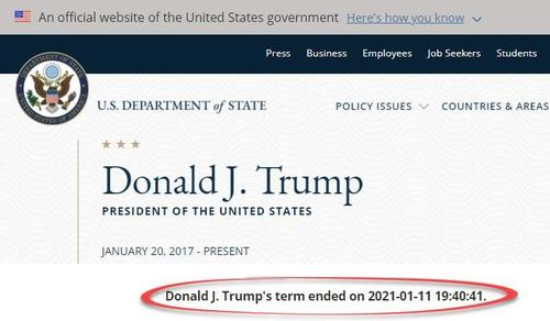 """Disgruntled Staffer"" Hacks State Department Site, Changes Trump/Pence Bios"