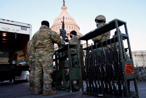Scared By Own People: Thousands National Guard Troops Deployed, Capitol Fortified Expecting Mass Protests Against Biden