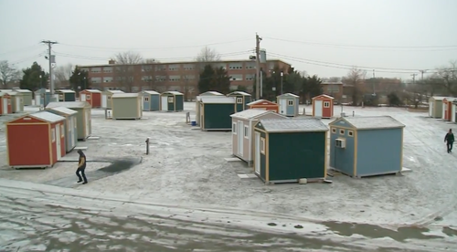 "First Look Inside St. Louis' ""Hooverville-Style"" Tiny Home Village For Homeless"
