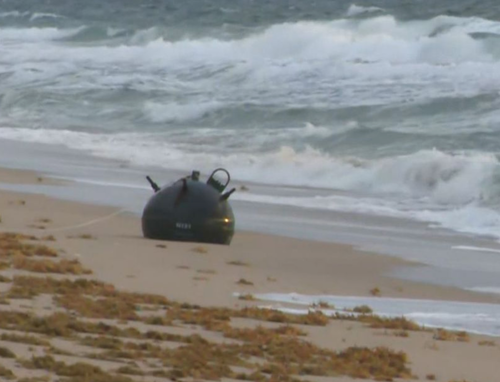 Naval Mine Washes Ashore On South Florida Beach [VIDEO]