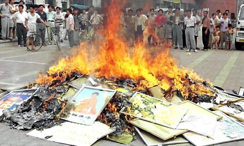 Religious Books Seized And Burned In Communist China, 'Believers' Given Jail Terms