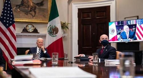 After Rolling Out Blue Carpet, Biden Begs Mexico To Stop Migrants