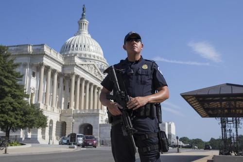 US Capitol Placed On Lockdown Over Suspected Tent Fire Under Bridge