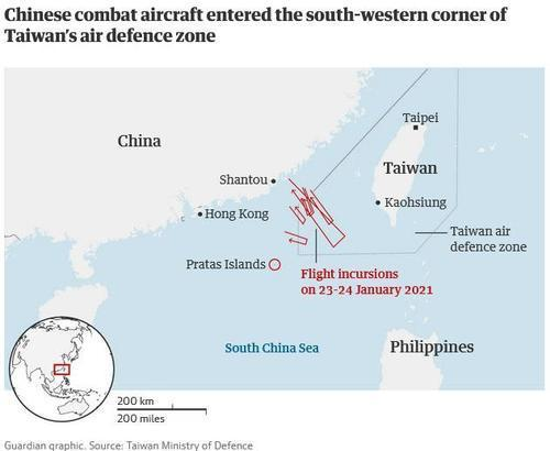 "Chinese Bombers Carried Out ""Simulated Attack"" On USS Roosevelt Carrier Near Taiwan"