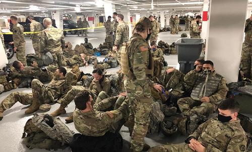 After Two Weeks Of Sleeping On Cold Marble, Congress Boots National Guard To Local Parking Garages
