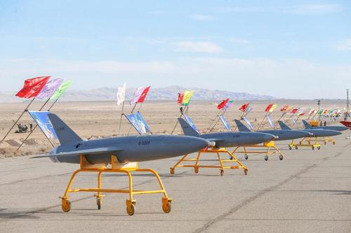 Iran Showcases Suicide Drones During Large-Scale UAV Combat Exercise