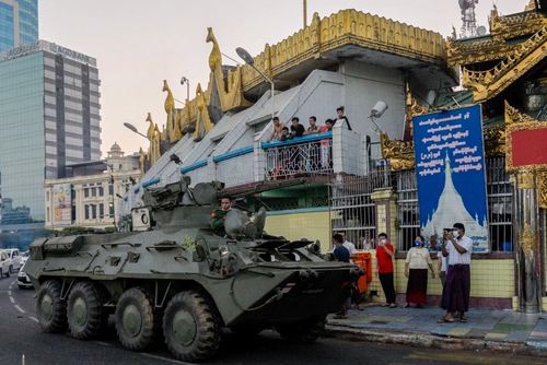 "Myanmar Junta Tells Media ""Coup"" Label Is 'Illegal' As Armored Vehicles Pour Into Cities"