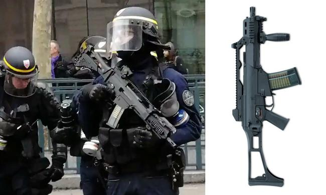france using guns agaisnt yellow vest