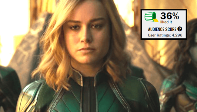 After Rotten Tomates Removes 93% Of Reviews, Captain Marvel