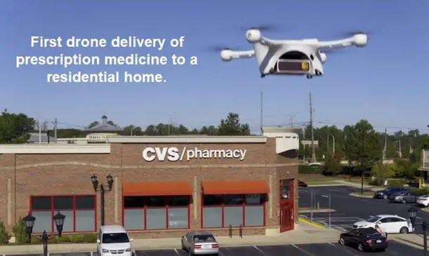 UPS, CVS Complete First Drone Delivery Of Medicine To Residential Customer