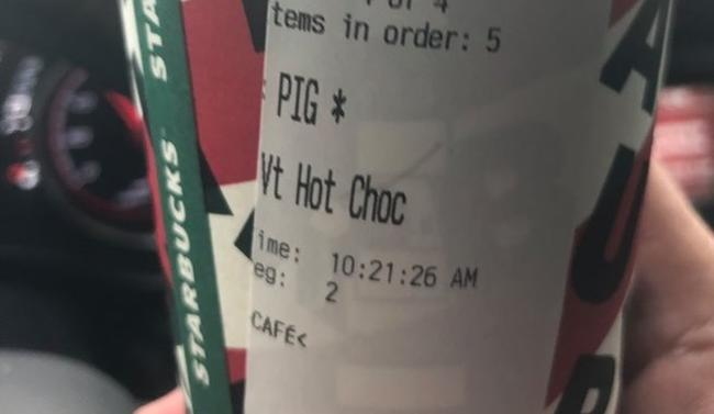 "Starbucks Barista, Who Called Cop ""PIG"" On Thanksgiving, Fired"