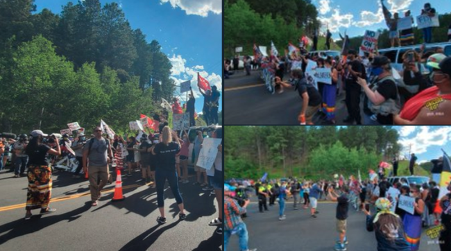 """You Are On Stolen land"" - Protests Intensify At Mount Rushmore Ahead Of Trump's Arrival"