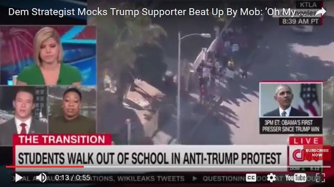 "CNN Dem Strategist Mocks White Trump Supporter Beaten In Chicago - ""Oh My Goodness, Poor White People"""